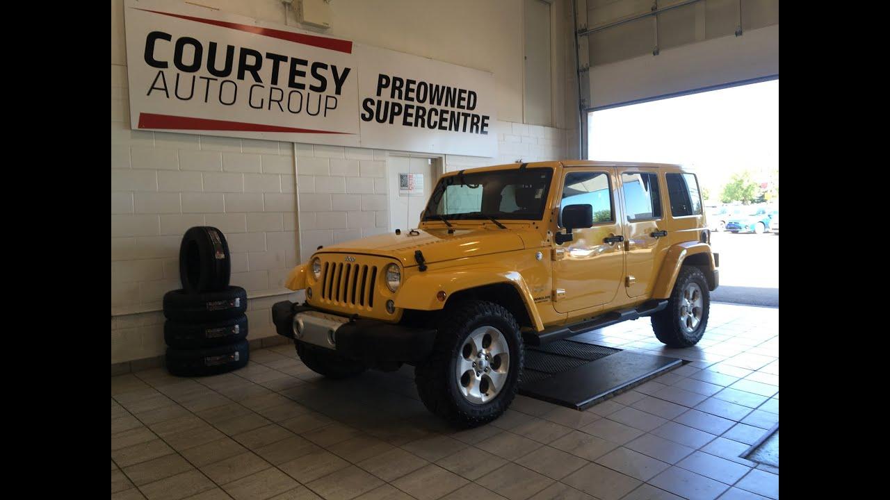 2015 Jeep Wrangler Unlimited Sahara Stinger Yellow