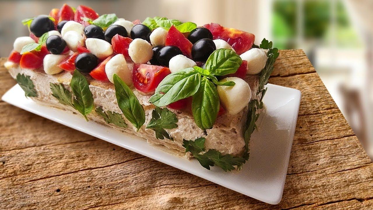 Бутербродный торт - необычные закуски на праздничный стол!