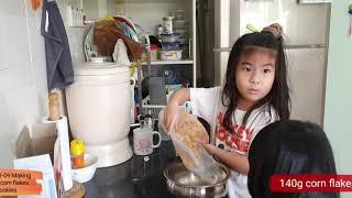 [2020-01-09] making honey corn flakes cookies