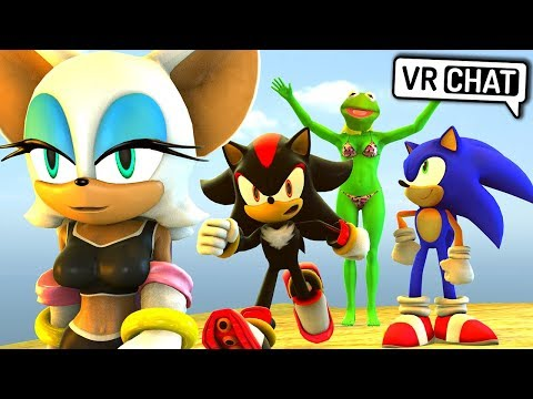 Sonic & Shadow Visit The Beach! (VR Chat)