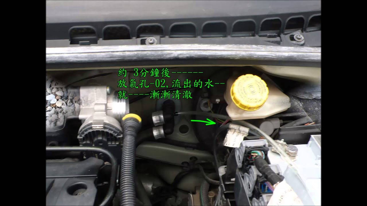 Citroen C3 coolant water replacement used siphon method
