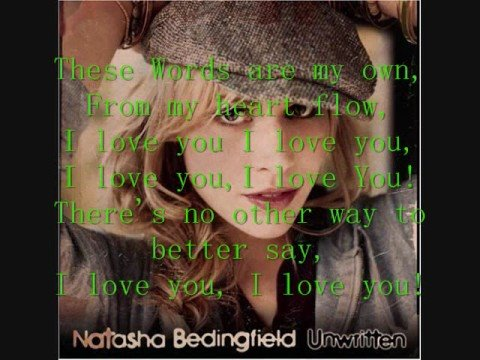 Natasha Bedingfield~These Words (Lyric Video)