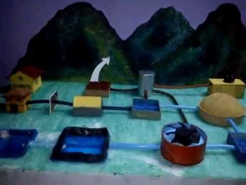 wastewater treatment school project - YouTube