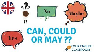 Can, Could or May? Modal Verbs - English Grammar