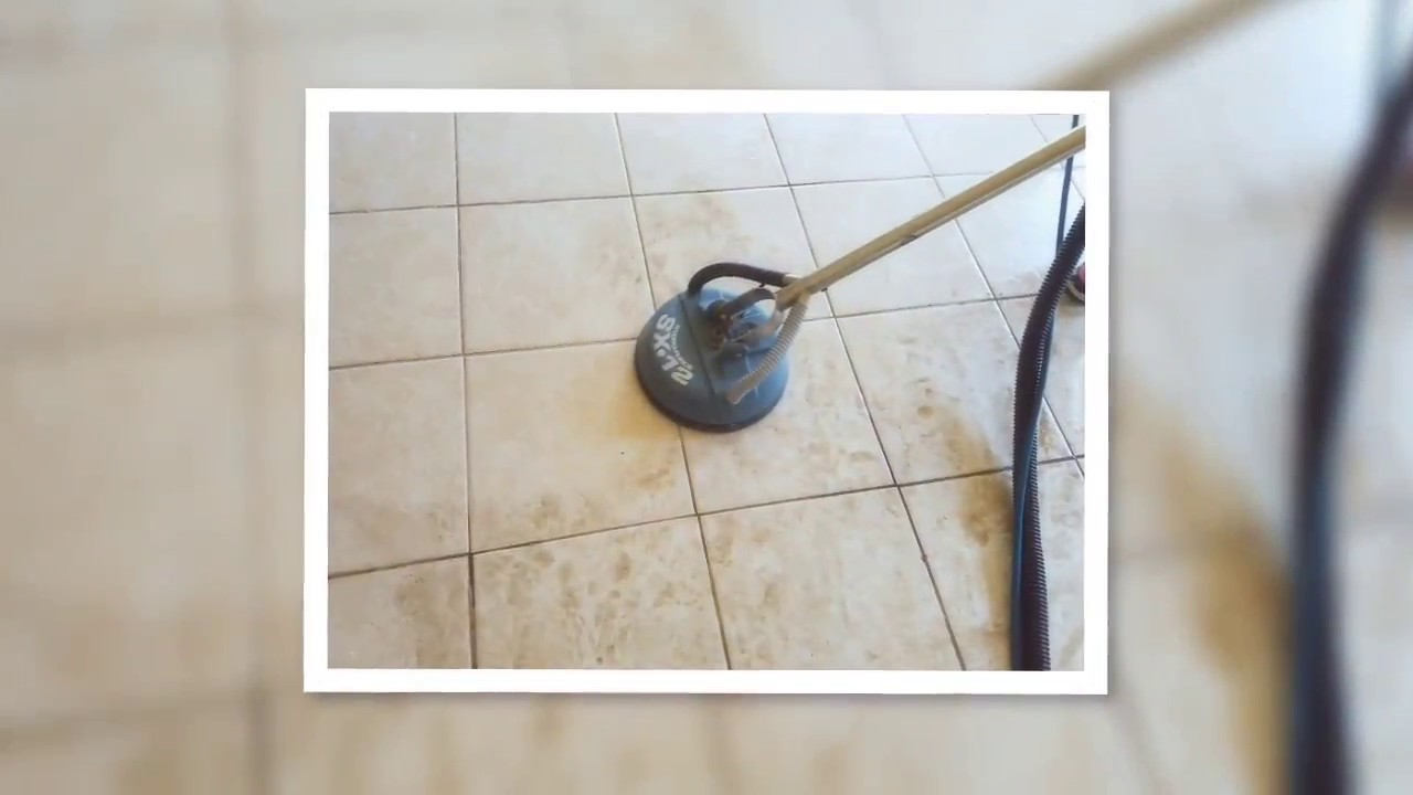 Tile cleaning. Deep floor cleaning with scrubber and hydroforce ...
