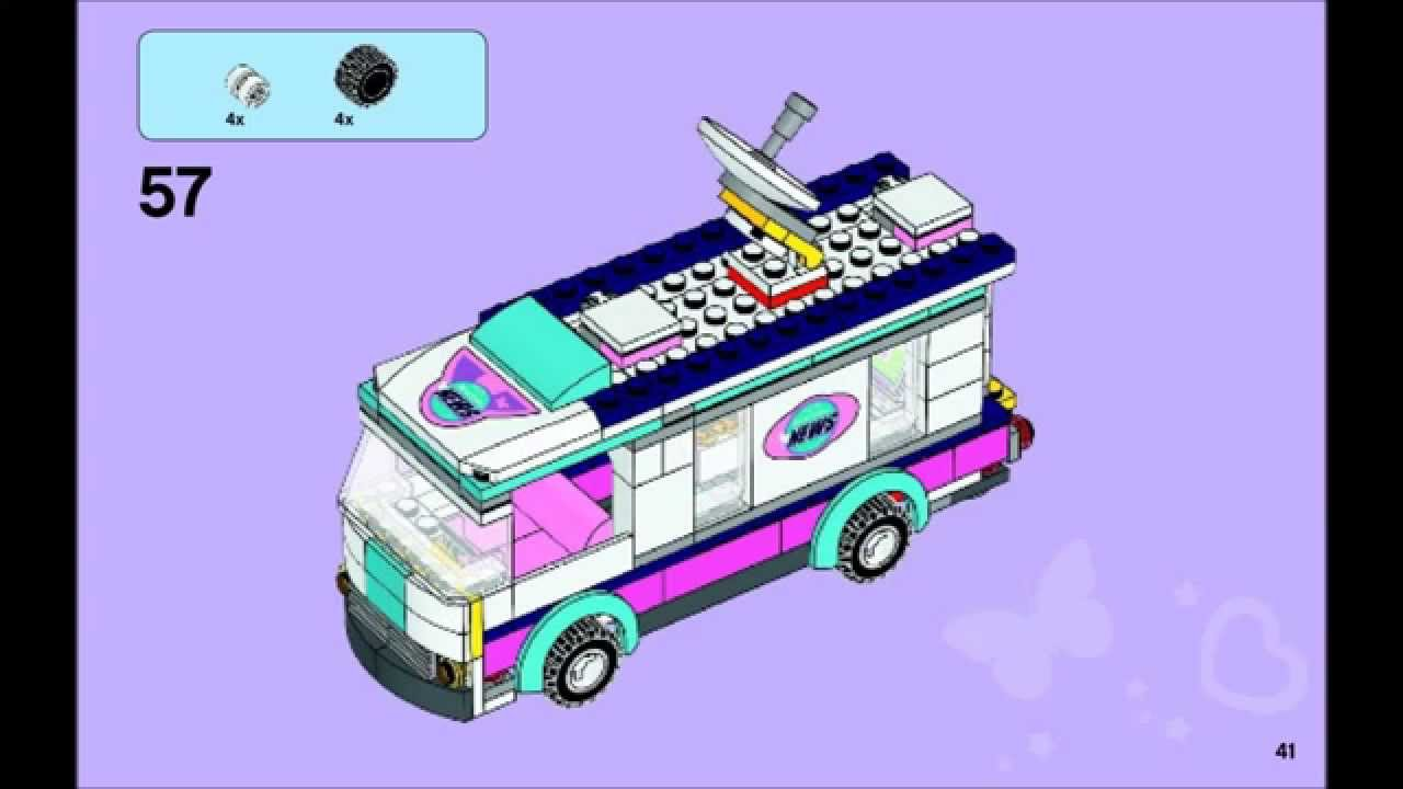 Lego Friends 41056 Heartlake News Van Building Instructions