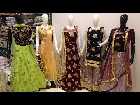 Designer Crop Top, Gown, Garara Sharara Latest Collection 2019 | Beautiful Bridal Dresses | Go Girls