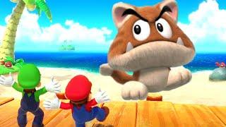 Super Mario Party Minigames - Mario vs Luigi vs Pom Pom vs Bowser Jr.