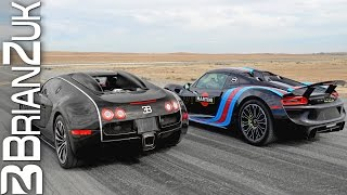 Supercars Drag Racing 1 - Veyron, P1, 918, Huracan, 650S