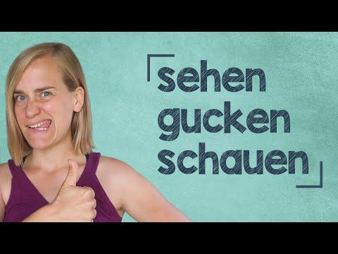 """German Lesson (161) - The Verb """"to see"""" - gucken ∙ schauen ∙ sehen ∙ ansehen ∙ aussehen - A2/B1"""