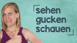"""German Lesson (163) - The Verb """"to see"""" - gucken ∙ schauen ∙ sehen ∙ ansehen ∙ aussehen - A2/B1"""