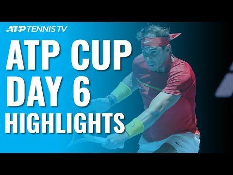 Nadal & Djokovic Win Again; Hurkacz Shocks Thiem   ATP Cup 2020 Highlights Day 6