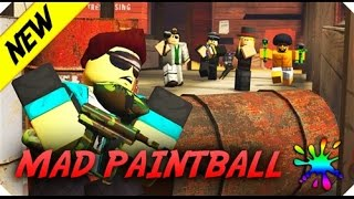 Roblox Mad Paintball Gameplay | With JackDiePie and Anthony