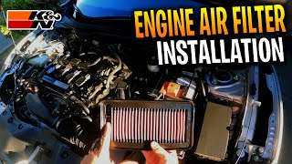 How To Install Engine Air Filter On A 1.5T Honda Civic 2016-2021! (K&N Performance Air Filter)