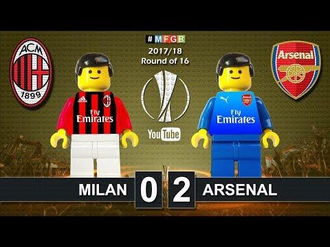 Milan vs Arsenal 0-2 • Europa League 2018 (08/03/2018) Goals Highlights Lego Football
