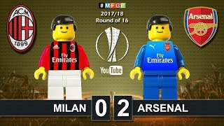 Milan vs arsenal 0-2 • europa league 2018 (08/03/2018) goals highlights lego football