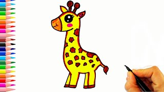 Zürafa Nasıl Çizilir? - How To Draw a Giraffe