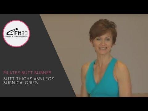 Pilates Butt Burner, Butt, Thighs, Abs, Legs, Burn Calories, 30 Mins