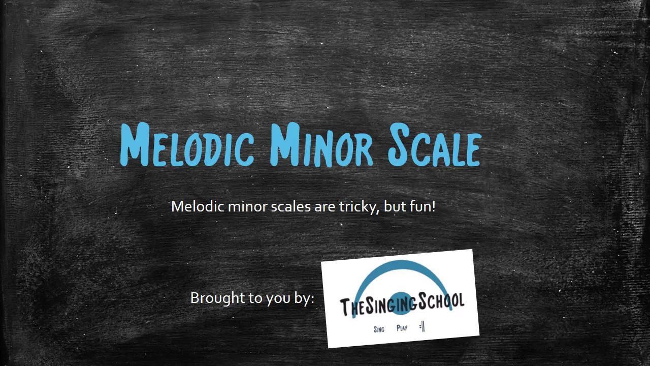 Melodic Minor Scale Youtube