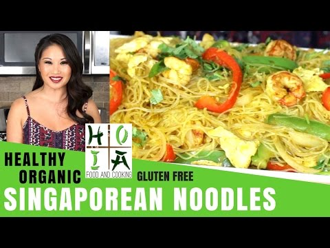 How to Make HEALTHY ORGANIC Singaporean Noodles with Chicken and Shrimp | Diane Yang Kirk | Ep 10