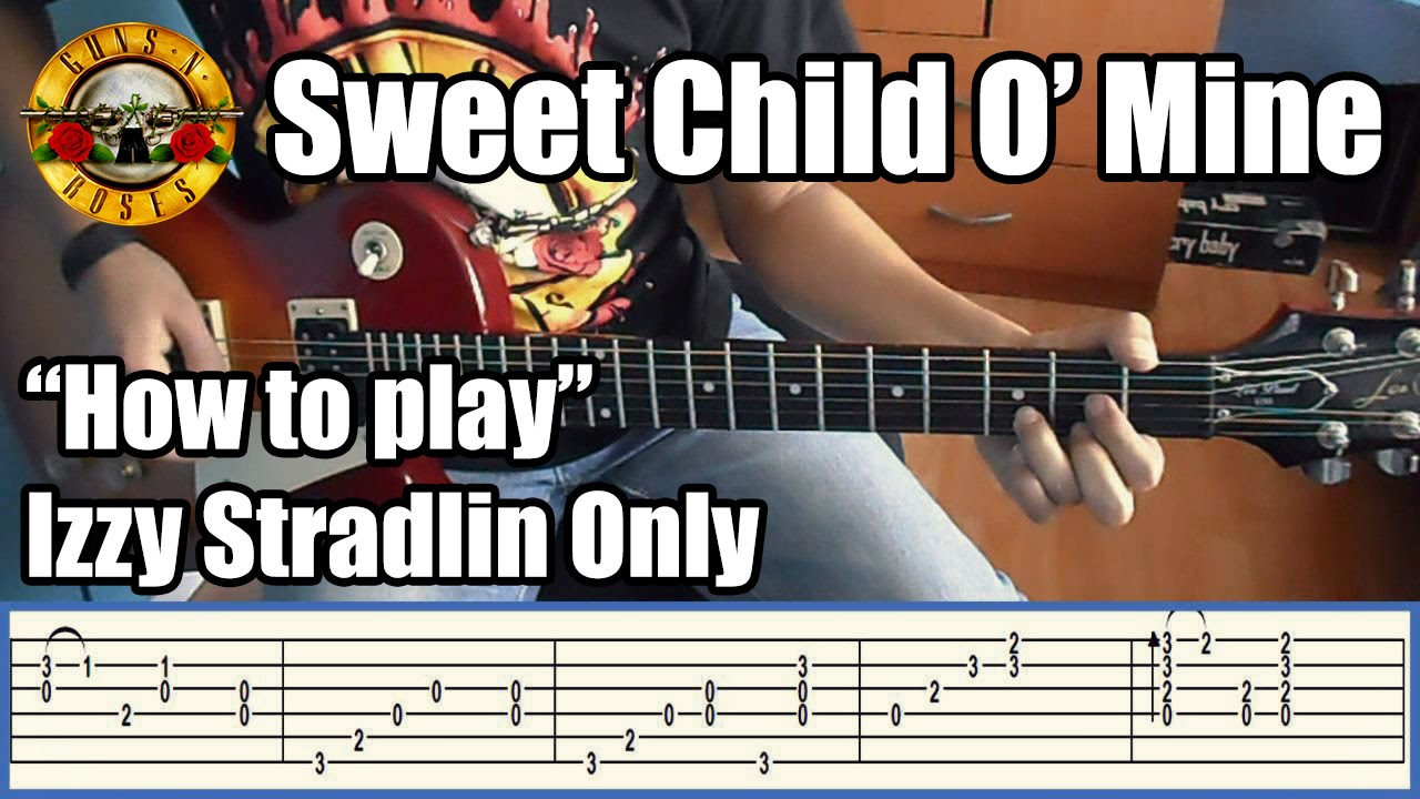 guns n 39 roses sweet child o 39 mine izzy stradlin only with tabs rhythm guitar youtube. Black Bedroom Furniture Sets. Home Design Ideas