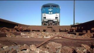 Amtrak Train The Silver Star Runs Over Camera At Double Diamond