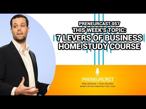 The Seven Levers Of Business - Double Your Profit [PreneurCast057]
