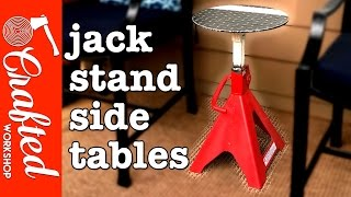How To Build Jack Stand Side Tables (Plasma Cutter Project) | Crafted Workshop