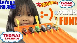 Thomas and Friends MINIS Racing! Hot Wheels Racing Playtime, Thomas the Tank Engine Race #41
