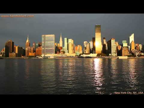Midtown Manhattan seen from the East River 1 Collage Video