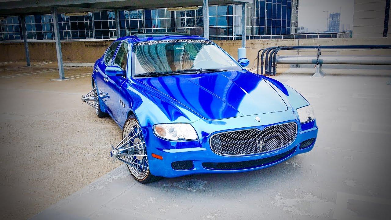 Blue Chrome Maserati On Swangas Video Shoots Youtube