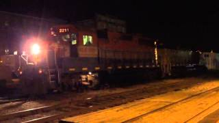 Diesel Locomotive Shut Down sounds at Night