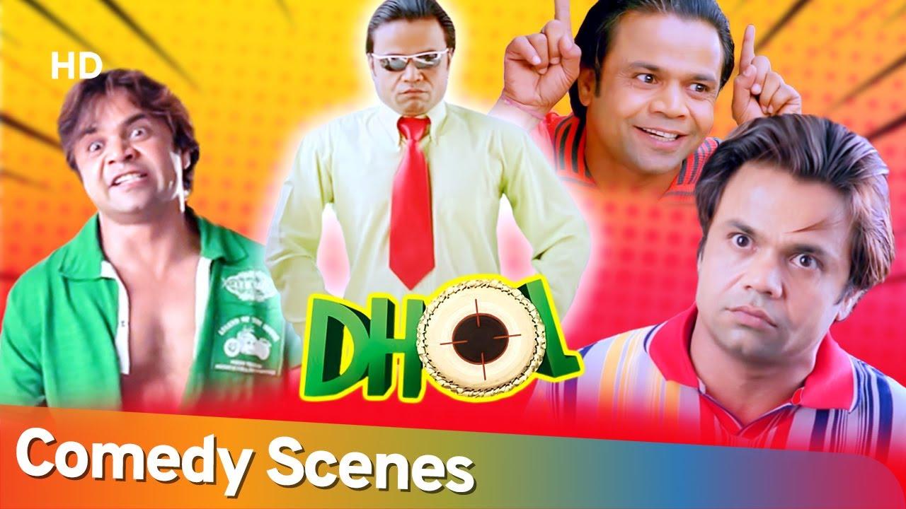 Best Of Rajpal Yadav Comedy Scenes- Superhit Movie Dhol - Tusshar Kapoor -Sharman Joshi -Kunal Khemu