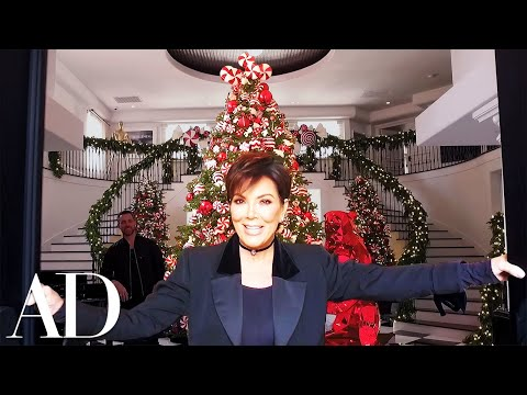 Kris Jenner On Her KardashianJenner Family Christmas Holiday Décor  Architectural Digest