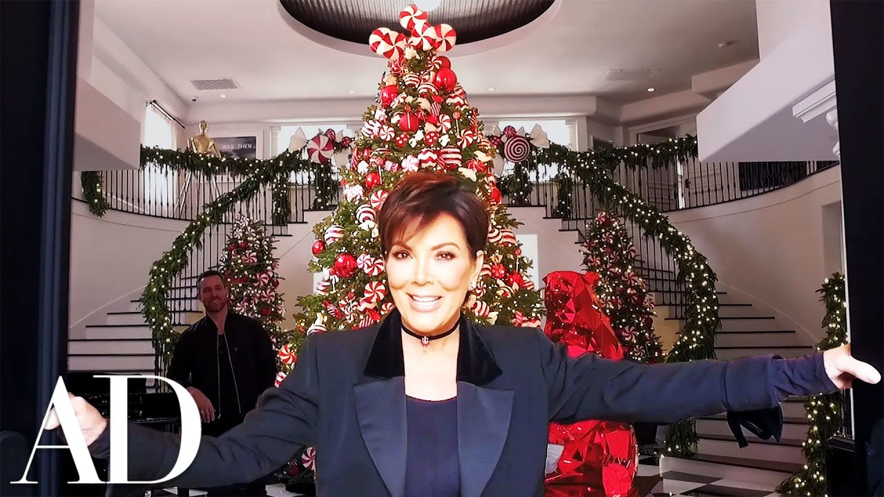 Kris Jenner On Her Kardashian Jenner Family Christmas Holiday Decor