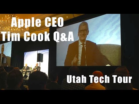 Rare Q&A with Apple CEO Tim Cook at Utah Tech Tour