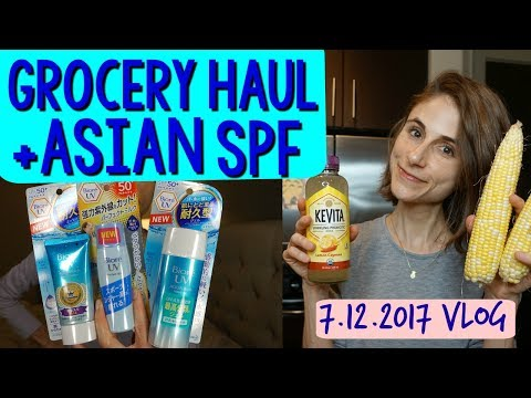 Vlog: Smoothie bowl, GROCERY HAUL, ASIAN SUNSCREEN PA 🌱🛍☀
