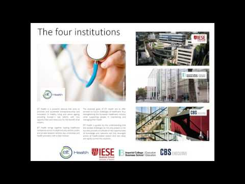 Advanced Management Programme on Health Innovation   Webinar