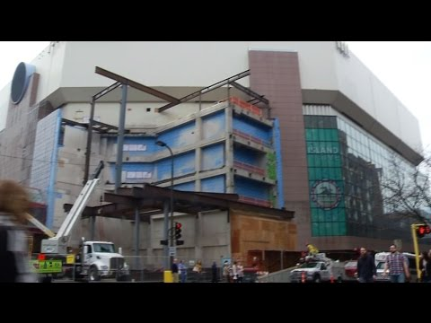 Mortenson gives tour of Target Center remodel