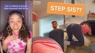 Tik Toks My Step Sister DOESN'T Want Anyone To See 😱
