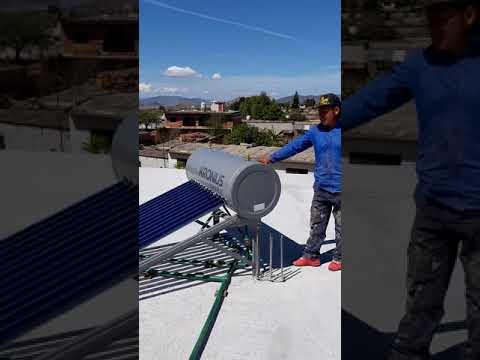 Instalación de hidroneumatico con calentador solar y tinaco d