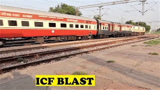 AJNI WAP7 Bilaspur Rajdhani Rips Away Twilight