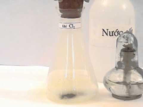 Khí clo tác dụng với đồng Cl2 + Cu