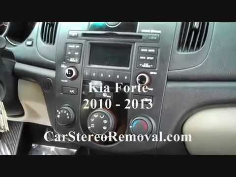 How to Kia Forte car Stereo radio cd Removal 2010  2013
