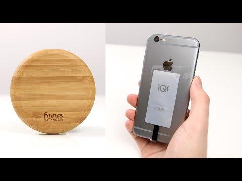 Wireless-Charger aus Bambus