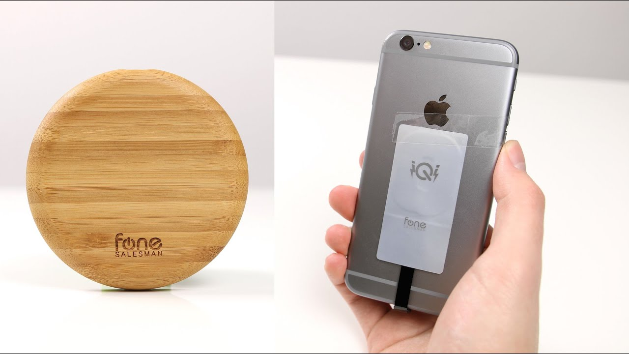 wireless charger aus bambus iphone kabellos aufladen. Black Bedroom Furniture Sets. Home Design Ideas