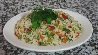Warm Rice Salad Egyptian Style Тёплый Рисовый Салат По Египетски