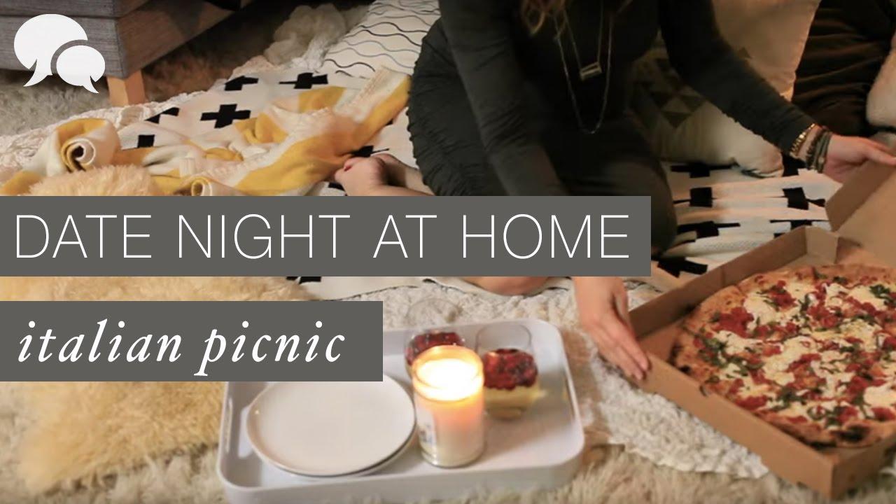 diy date night at home italian food picnic youtube