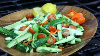 Zesty Cucumber Chow (salad) Chris De La Rosa | Caribbeanpot Com