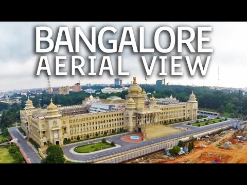 Bangalore Aerial view   Drone video India   DJI Phantom